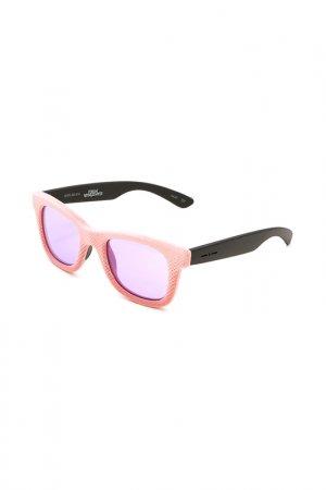 Очки солнцезащитные с линзами Italia Independent. Цвет: 009 016 розовый, черный