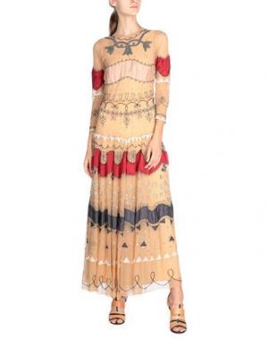 Длинное платье ANIYE BY. Цвет: бежевый