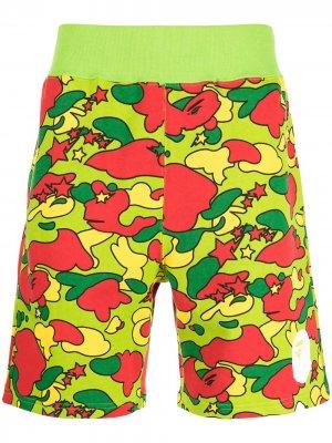 Camouflage-print cotton shorts A BATHING APE®. Цвет: разноцветный