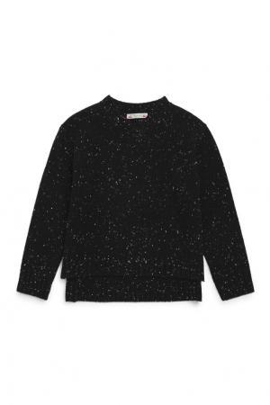 Пуловер черный кашемировый Bonpoint. Цвет: черный