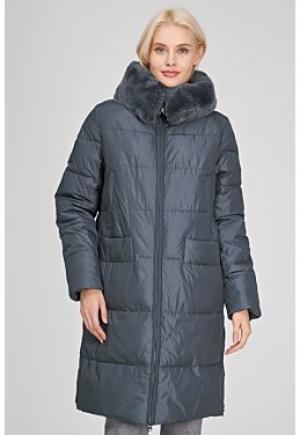 Утепленная куртка с отделкой мехом кролика Le monique