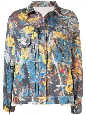 Джинсовая куртка с принтом Sacai