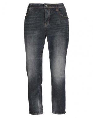 Джинсовые брюки-капри FRACOMINA. Цвет: серый