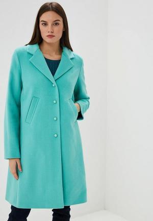 Пальто Gamelia. Цвет: бирюзовый