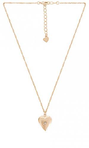 Кулон-медальон key to my heart Frasier Sterling. Цвет: металлический золотой