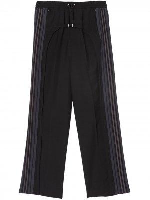 Классические брюки с полосками Burberry. Цвет: черный