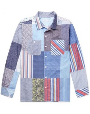 Pубашка ENGINEERED GARMENTS. Цвет: небесно-голубой