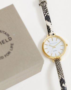 Серые женские часы со змеиной отделкой -Серый Bellfield