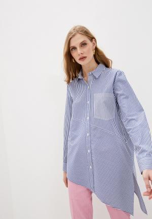Рубашка DKNY. Цвет: синий