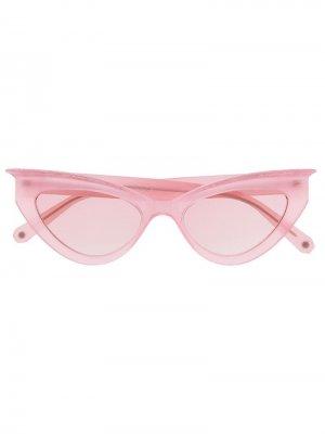 Солнцезащитные очки в оправе кошачий глаз Philipp Plein. Цвет: розовый