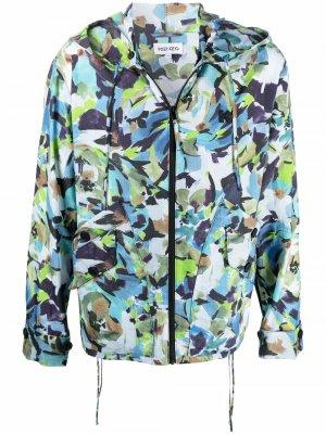 Куртка на молнии с капюшоном Kenzo. Цвет: синий
