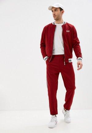 Костюм спортивный Emdi. Цвет: бордовый