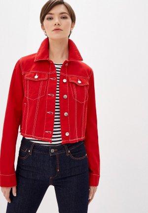 Куртка джинсовая Sportmax Code. Цвет: красный