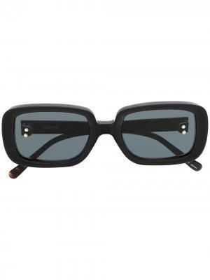 Солнцезащитные очки в прямоугольной оправе Doublet. Цвет: серый