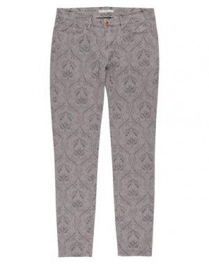 Повседневные брюки JAGGY. Цвет: голубиный серый