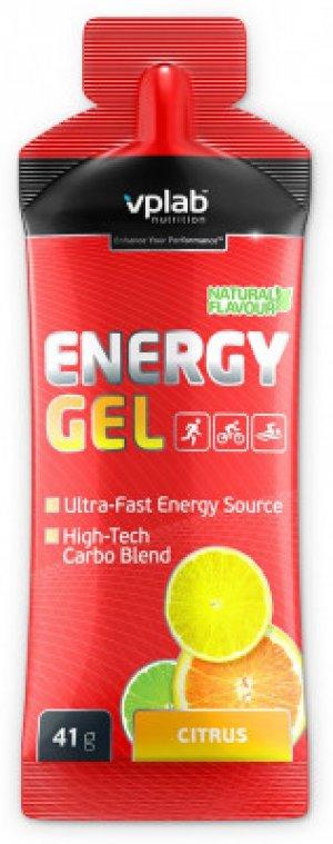 Гель энергетический со вкусом цитрус Vplab nutrition. Цвет: красный