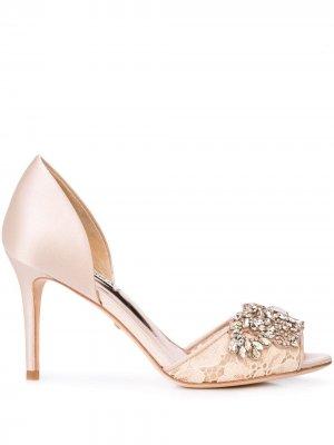 Туфли-лодочки с кристаллами Badgley Mischka. Цвет: нейтральные цвета
