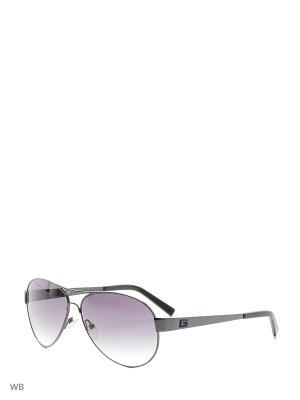 Солнцезащитные очки GU 6827 08В GUESS. Цвет: черный