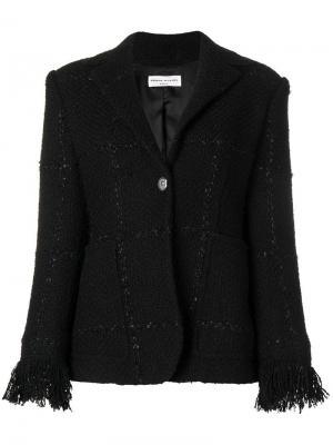 Твидовый пиджак на пуговицах Sonia Rykiel. Цвет: черный