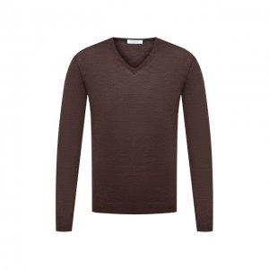 Пуловер из шерсти и шелка Gran Sasso. Цвет: коричневый
