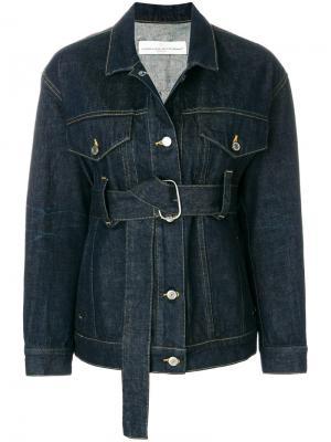 Джинсовая куртка с поясом Golden Goose Deluxe Brand. Цвет: синий