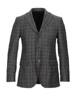 Пиджак TOMBOLINI. Цвет: стальной серый