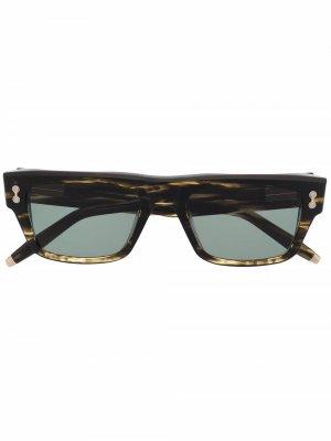 Солнцезащитные очки Leo в квадратной оправе Akoni. Цвет: коричневый