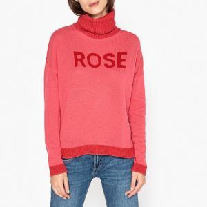 Пуловер с воротником отворотом из кашемира ELGA BERENICE. Цвет: розовый