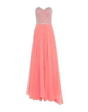 Длинное платье LEXUS. Цвет: коралловый