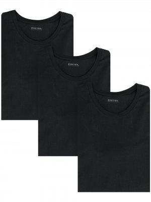 Комплект из трех футболок с логотипом Diesel. Цвет: черный