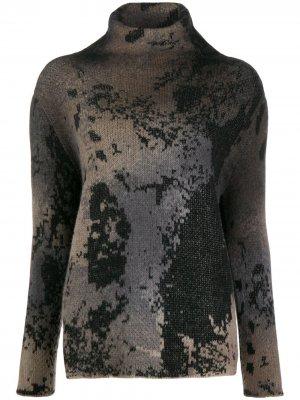 Джемпер вязки интарсия Avant Toi. Цвет: нейтральные цвета