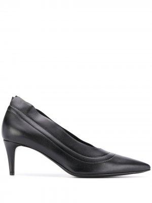 Туфли-лодочки на каблуке-рюмке Acne Studios. Цвет: черный