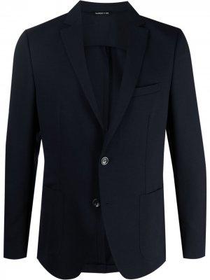 Однобортный пиджак строгого кроя Tonello. Цвет: синий