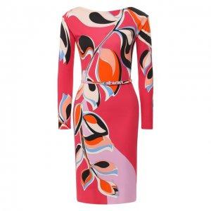 Платье с поясом Emilio Pucci. Цвет: разноцветный
