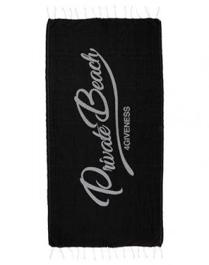 Пляжное полотенце 4GIVENESS. Цвет: черный