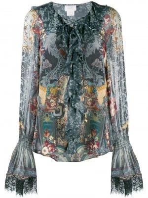 Блузка с длинными рукавами и принтом Camilla