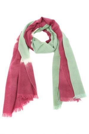 Палантин F.FRANTELLI. Цвет: зеленый, лиловый