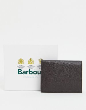 Маленький кожаный бумажник темно-коричневого цвета Amble-Коричневый цвет Barbour