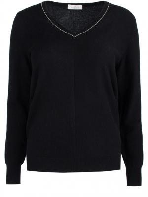 Шерстяной пуловер Panicale. Цвет: черный