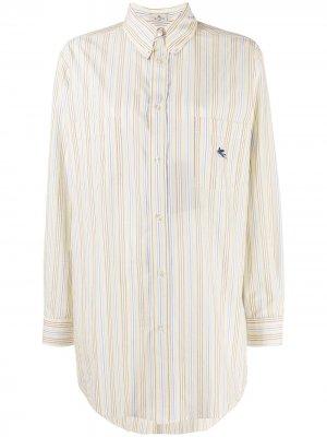 Длинная рубашка в полоску Etro. Цвет: желтый