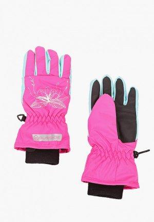 Перчатки горнолыжные Glissade. Цвет: розовый