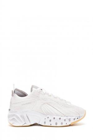 Белые кроссовки Manhattan Tumbled Acne Studios. Цвет: белый