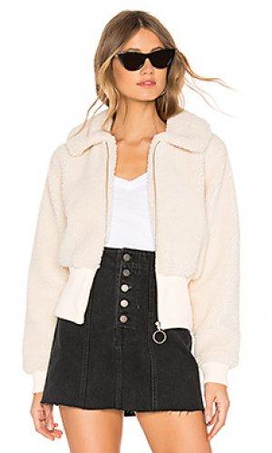 Куртка на молнии coco Lovers + Friends. Цвет: кремовый