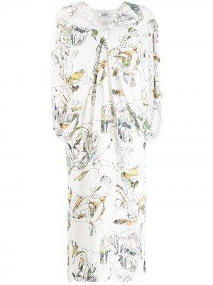 Платье без рукавов Chalayan. Цвет: белый