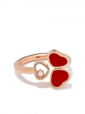 Кольцо Happy Hearts из розового золота Chopard. Цвет: розовый