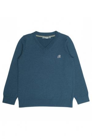 Пуловер синий шерстяной Bonpoint. Цвет: голубой
