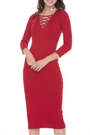 Платье-миди California FREESPIRIT. Цвет: красный