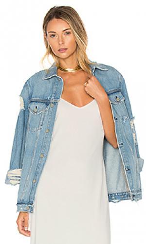Свободная рабочая джинсовая куртка daria GRLFRND. Цвет: none