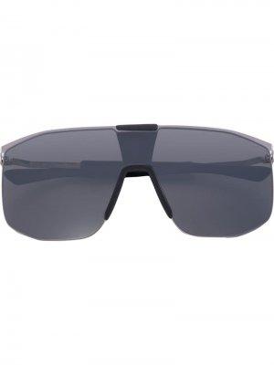 Солнцезащитные очки в массивной оправе Mykita. Цвет: серый