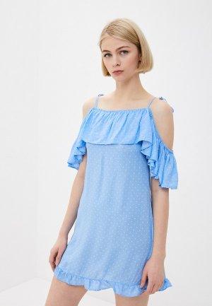 Платье пляжное Infinity Lingerie. Цвет: голубой